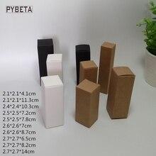 100 pièces- (21-27mm) boîte de papier vierge parfum huile essentielle pulvérisations rouge à lèvres tube lèvre glaçure échantillons cosmétiques emballage cadeau boîtes