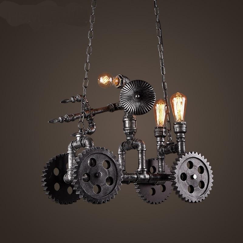 Pendant Lights loft Bar  Cafe Internet Cafe Club industrial creative art lamps American retro Hotel  LU823397