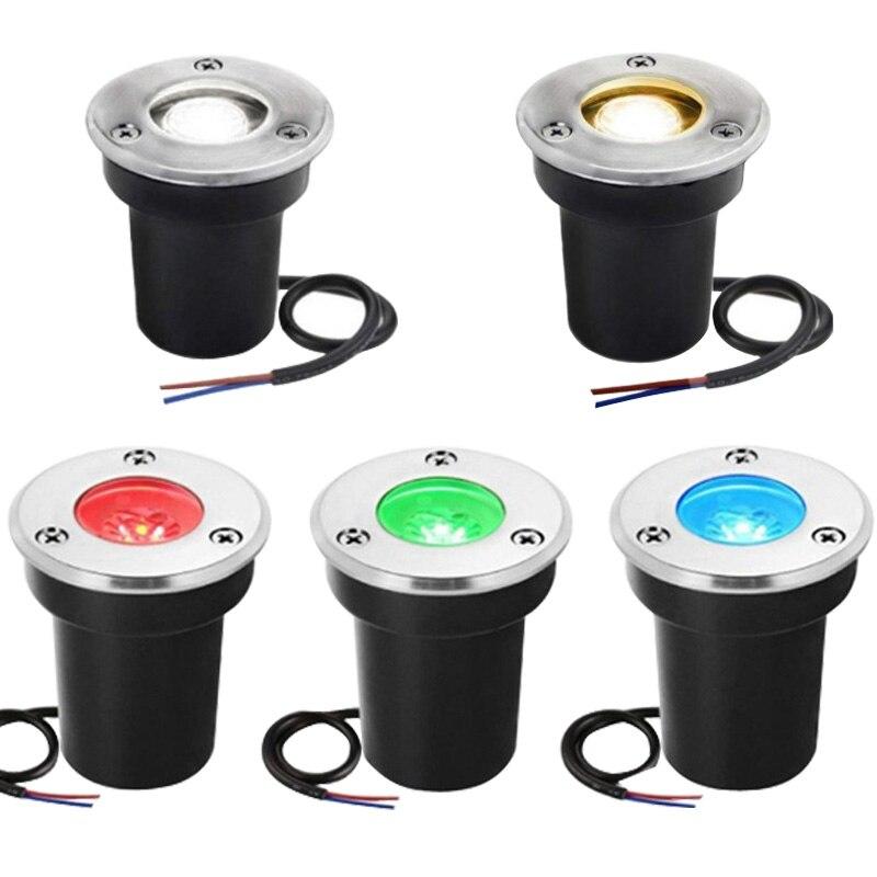 5W 10W LED luz subterránea impermeable AC85-265V DC12V lámpara enterrada bombilla para Sendero de jardín suelo patio paisaje