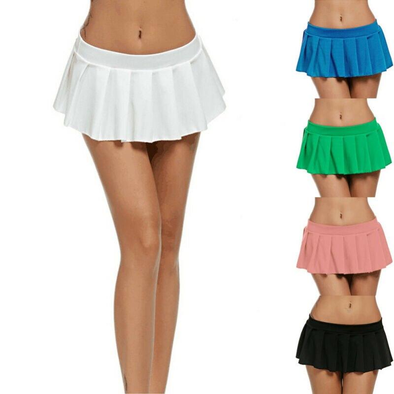 Mini Falda plisada Sexy para mujer, minifalda corta para colegiala, para mujer, dulce, para fiesta