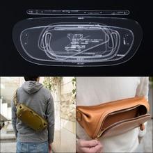 Sac à main en cuir acrylique   1 ensemble, sac à bandoulière motif pochoir, lot doutils 38*17.5*5cm