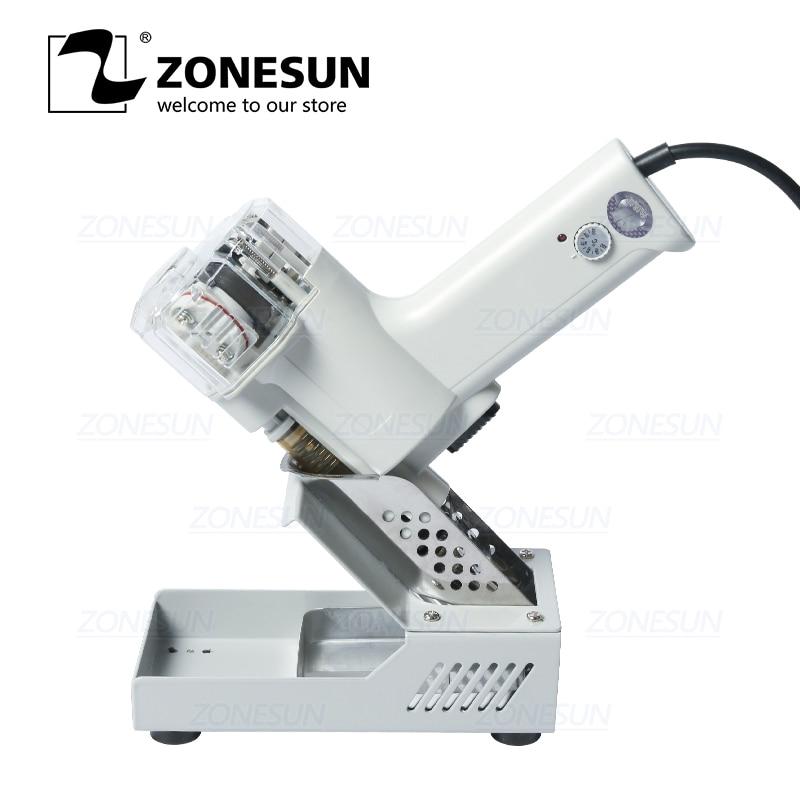 ZONESUN Electric Vacuum Double Desoldering Pump Solder Sucker Tin Suction Gun Powerful Tin Removal Tool