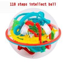 118 étapes magique intellect boule labyrinthe perplexus magnétique marbre IQ balance puzzle jeu jouets, éducatif drôle jouet pour enfants cadeau
