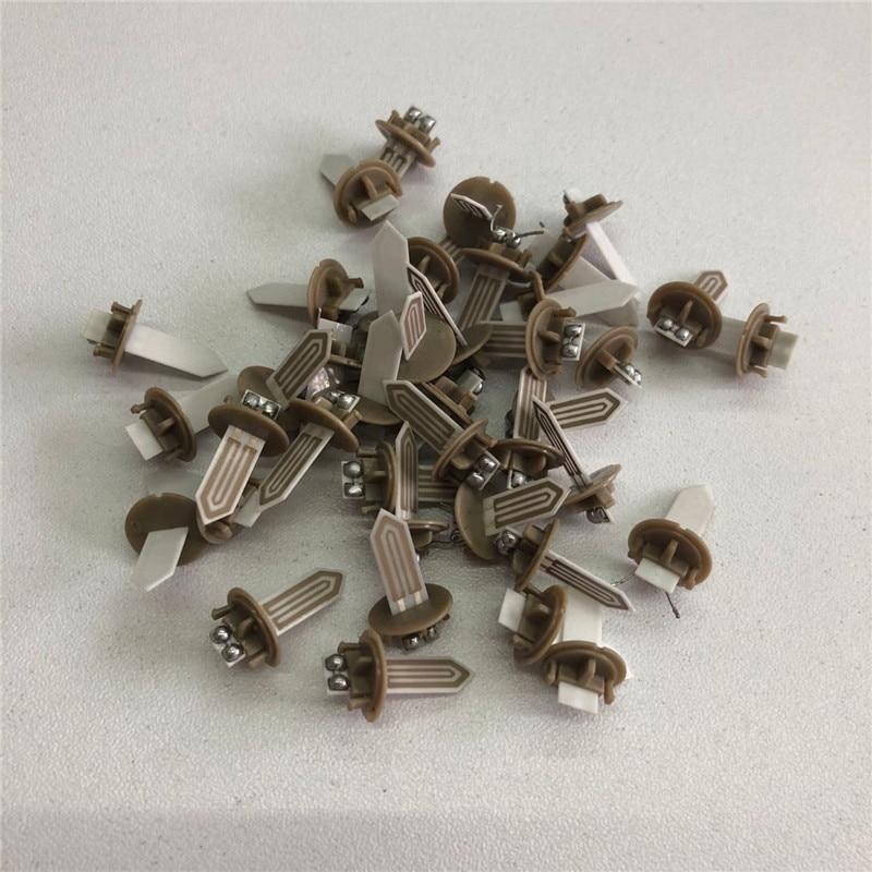 1 pçs substituição acessórios de reparo platina abs aquecedor de metal lâmina para iqos 2.4 plus cigarro lâmina vara calor