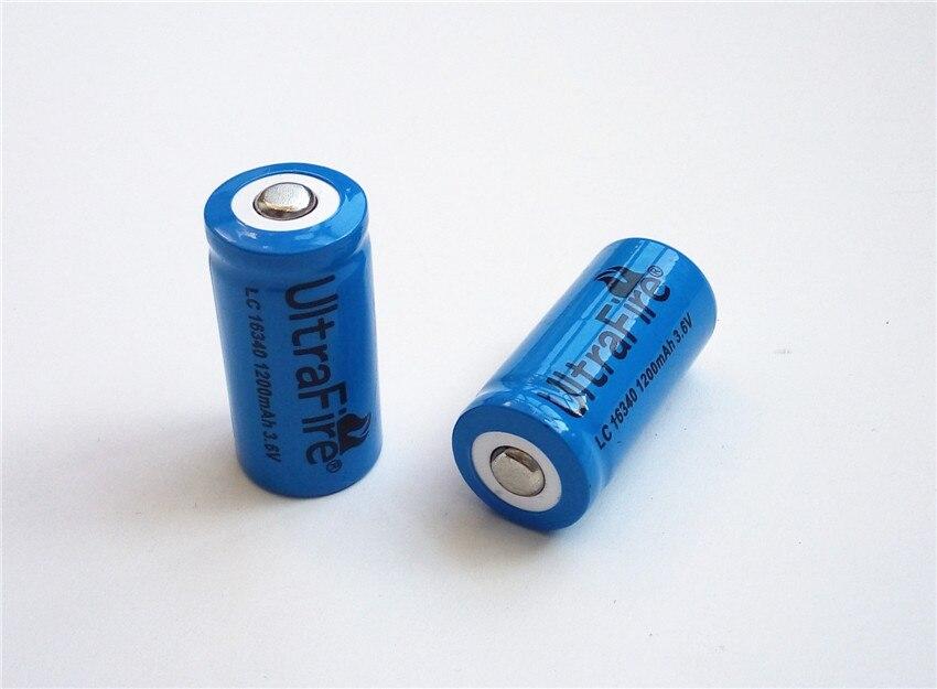 Hohe qualität 16340 1200 mah 3,6 V 3,7 v lithium-ionen-akkus mit FREIES ladegerät Taschenlampen ego-t batterie