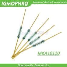 5 pièces MKA10110 Reed Switch 1.8*10mm interrupteur de commande magnétique verre vert Reed commutateurs verre normalement ouvert pas de Contact pour capteurs