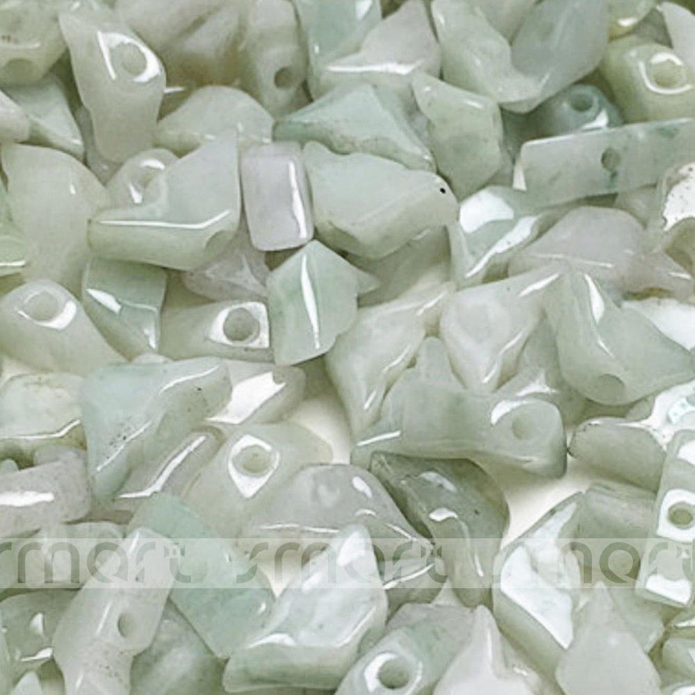 100PCS Waxy White Grade A Natural Jade Gemstone Yuan bao Ingot Shape Loose Beads
