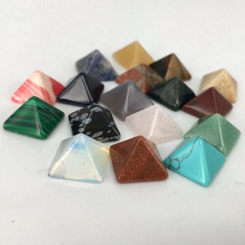 7 Stks/pak Chakra Natuurlijke Piramide Steen Kristallen Healing Chakra Set Healing Crystals Stones Best Gift Woondecoratie Accessoires