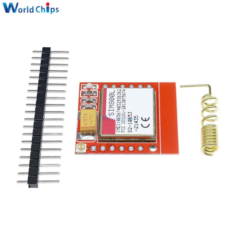 SIM800L módulo GPRS GSM más pequeño micro-SIM luces indicadoras 3,7-4,2 V GPS GSM controlador arranque automático con pines