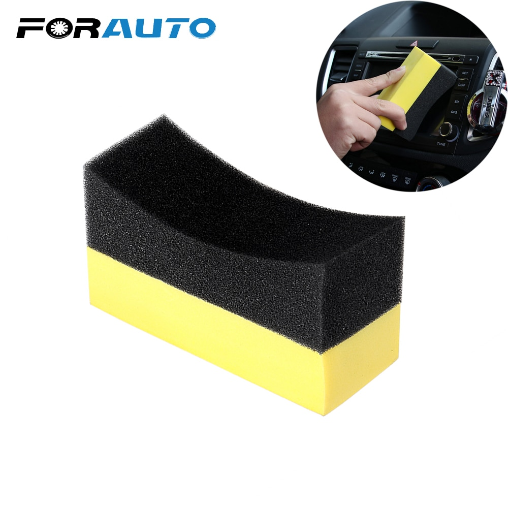 FORAUTO Tyre Tire Brush EVA Wax Foam Polishing Sponge Cleaning Tool Household Car Wash Sponge U-Shape Auto Care Multi-functional