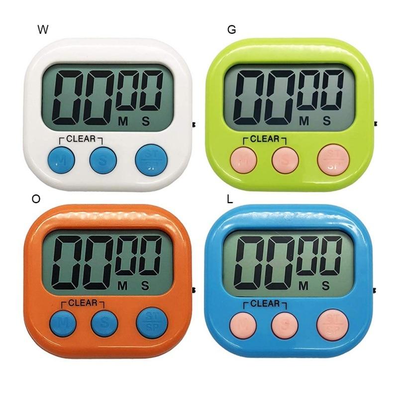 Digital LCD Magnetic Timer White Kitchen Alarm Clock Timer Kitchen Home Garden Kitchen Dining Kitchen Tools Gadgets
