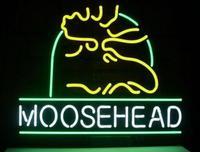 Moosehead Lager Glass Neon Light Sign Beer Bar Custom Made