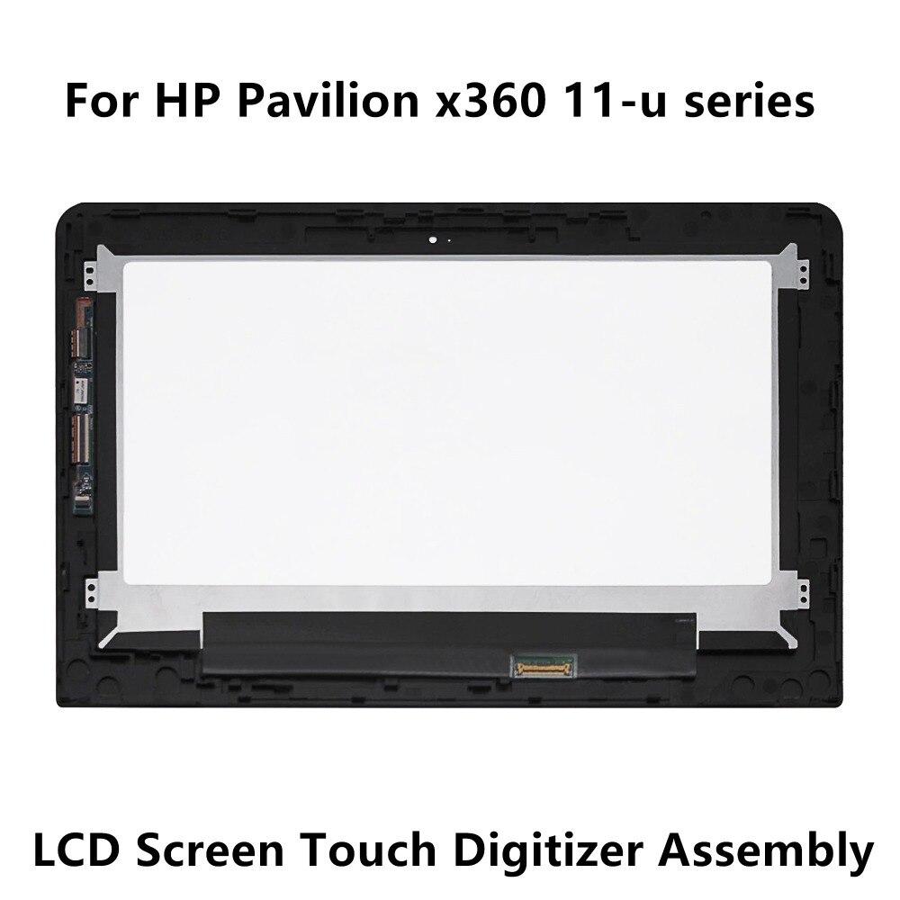Para HP Pavilion x360 11-u011la 11-u000ns 11-u052tu 11-u053tu 11-u103tu pantalla LCD Panel táctil montaje digitalizador de vidrio