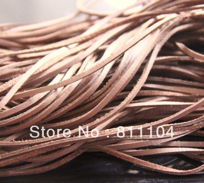 حبل مسطح من جلد الغزال البني ، 3 مللي متر ، جانب واحد ، سلك دانتيل من أجل افعلها بنفسك ، سوار عصري ، مجوهرات ، بيع بالجملة
