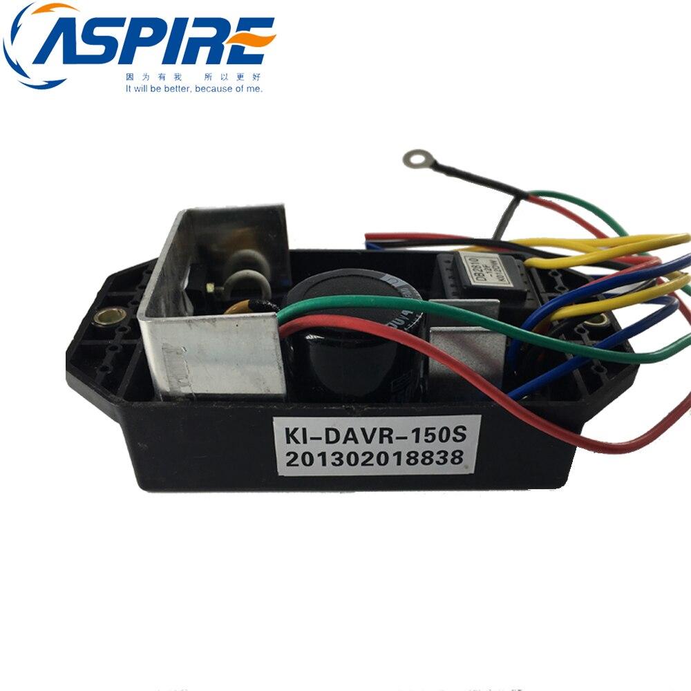 Regulador de voltaje del generador KI-DAVR-150S KI DAVR 150S generador diésel AVR monofásico envío gratis