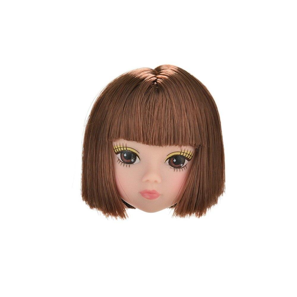 1 шт. новые модные льняные короткие волосы кукла голова куклы аксессуары голова студентов парики для s
