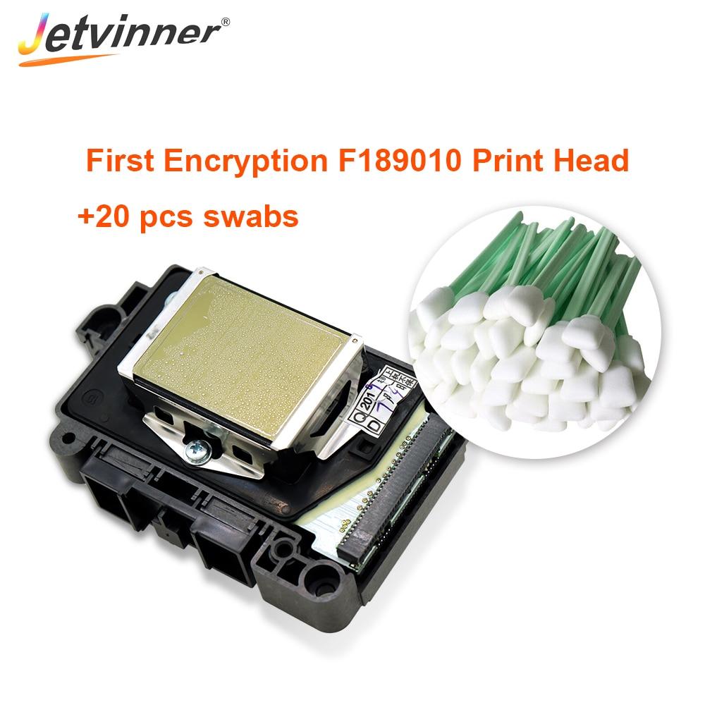 Cabezal de impresión Jetvinner Original F189010 DX7 primer cabezal de impresión de cifrado para EPSON B300 310 B500 510 B308 508 con hisopos de 20 piezas