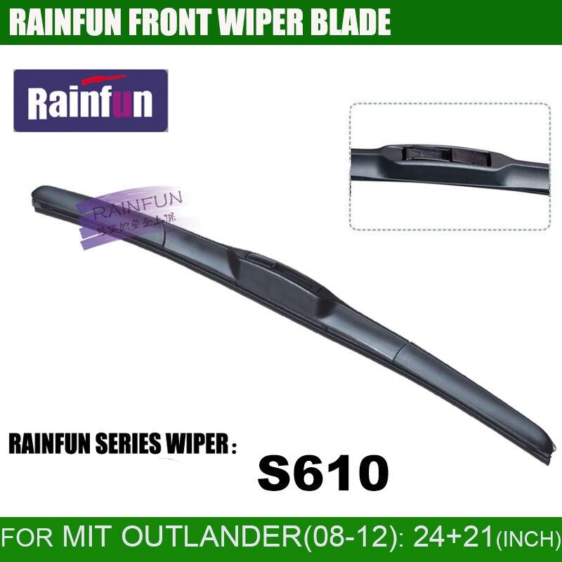 RAINFUN dedicated car wiper blade for 08-12 MITSUBISHI  OUTLANDER,24+21 NCH Car Wiper auto soft windshield wiper, 2 PCS a lot