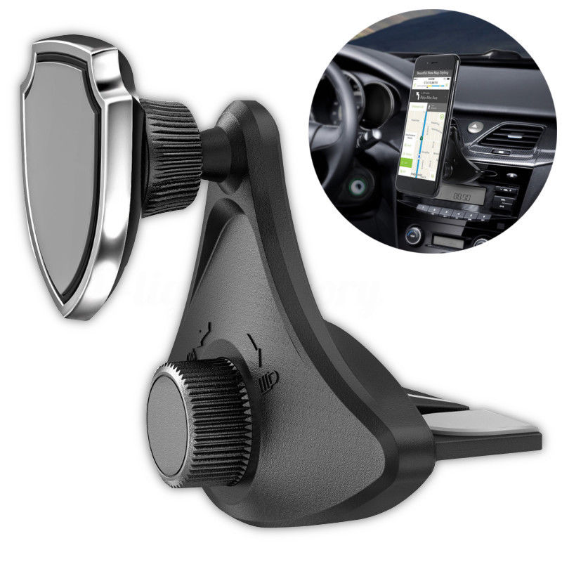 2019 nuevo Universal giratorio 360 de coche soporte de soporte móvil magnético ranura para CD de montaje en salida de aire de coche soporte para teléfono móvil
