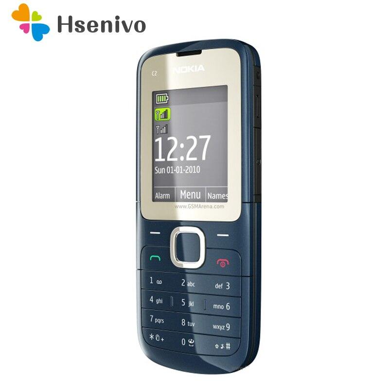 Nokia c2-00 отремонтированы оригинальный C2-00 перепрошитый Nokia C2-00 мобильный телефон в черном и красном цветах