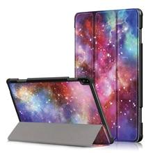 Caso magro para Lenovo Tab P10 TB-X705F Tablet PU Couro Folding Tampa do Suporte para Lenovo Tab P10 TB-X705F Caso Tablet