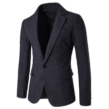 Blazers hommes costumes automne et hiver nouveau tissu à chevrons angleterre Style costume décontracté pour hommes
