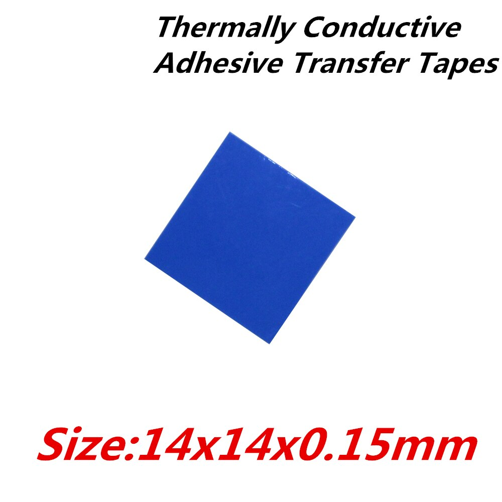 100 unids/lote 14x14mm cintas de transferencia adhesiva conductoras térmicas cinta térmica de doble cara para radiador disipador térmico