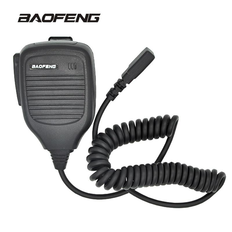 mini ombro handheld microfone para baofeng walkie talkie uv 5r portatil radio em