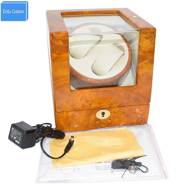 Especial do Relógio dos Relógios de Luxo Caixa de Relógio de Couro de Madeira da Escolha do Presente Dobadoura Automática 2
