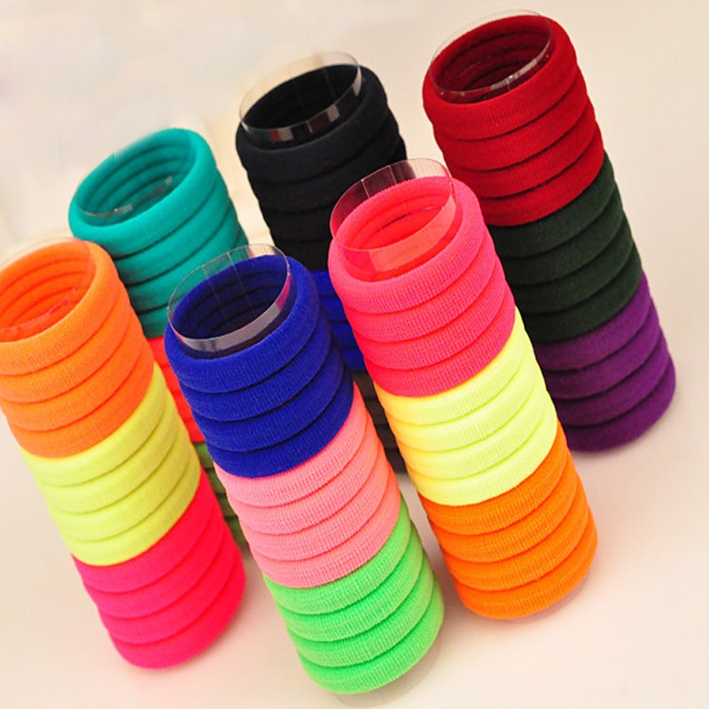 50 Uds. Anillo elástico multicolor bandas para el cabello corbatas para el cabello herramientas de estilismo de goma cintas elásticas para el cabello accesorios para hacer trenzas