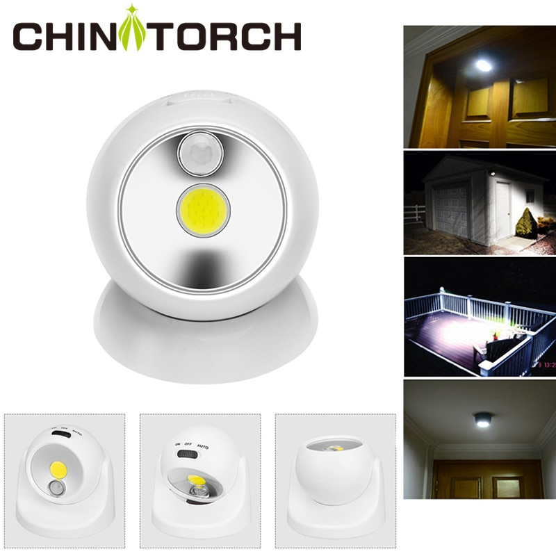 Motion Sensor Light Wireless Waterproof Indoor Outdoor Spotlight LED Battery Security Night Light 360 Degree Garden Wall Lamp