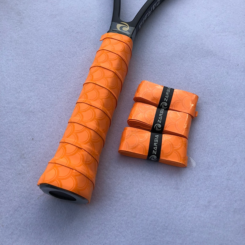 3pcs ZARSIA NEW printing tennis racket overgrips,viscous badminton grips sticky thin tennis sweatbands