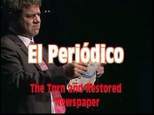 Порванная и восстановленная газета от antio Romero-magic tricks