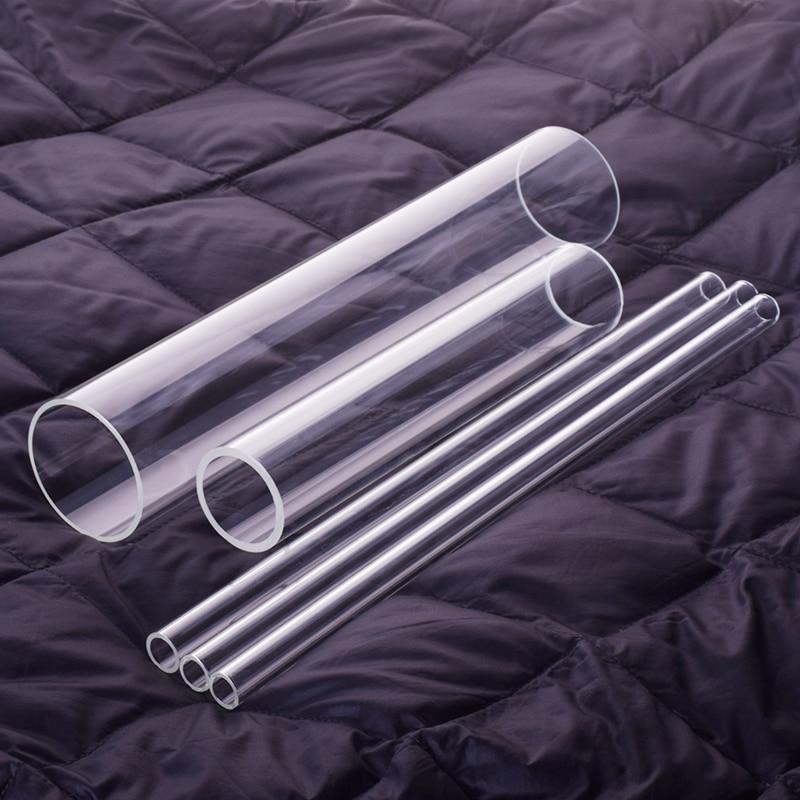 Tubo de vidro de borosilicato alto de 3 pces, diâmetro exterior 40mm, thk. 2mm/2.5mm, l. 200mm/250mm/300mm, tubo de vidro resistente de alta temperatura