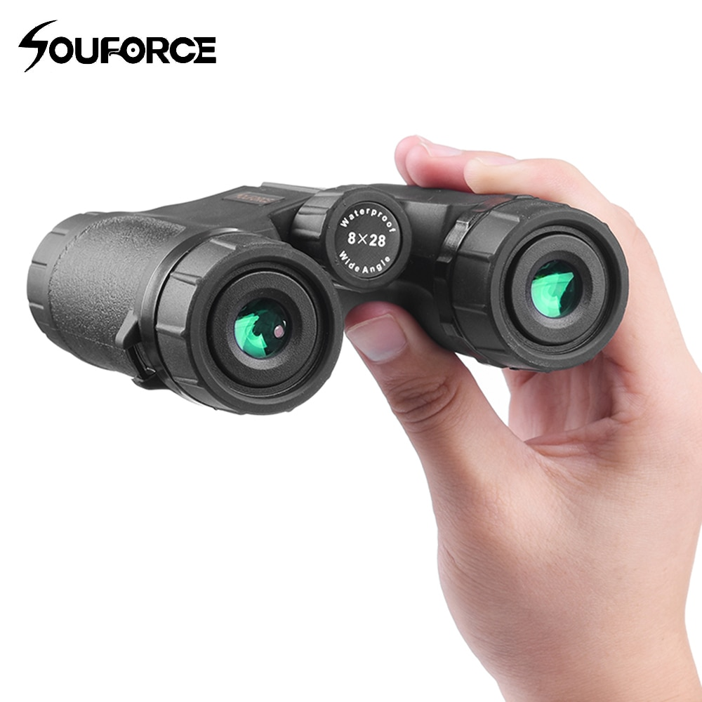 8X28 Mini Binoculars Waterproof Telescope Wide Field Angle for Outdoor Watching Hunting Camping