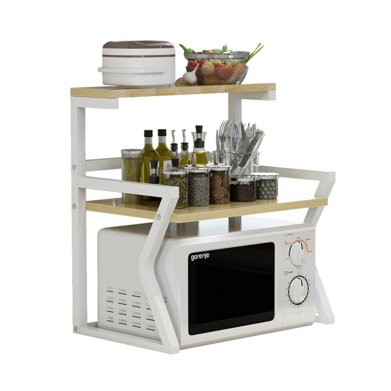 Kitchen microwave racks cabinets free of perforated desktop condiment storage rack vegetable shelf spice racks LL7131334