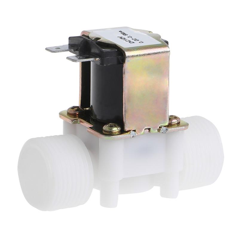 "3/4"" DC 12V PP N/C Electric Solenoid Valve Water Control Diverter Device JAN07 Dropship"