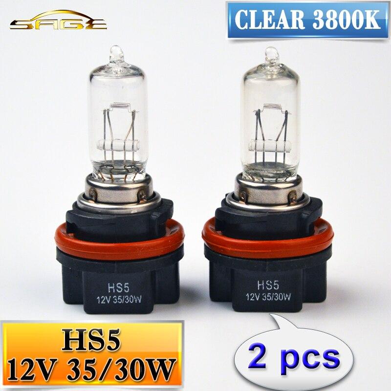 Лампа для мотоцикла flytop HS5 12V 35/30W P23T, прозрачная стеклянная галогенная лампа 3800K для PCX 125/150 (2 шт.)