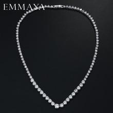 EMMAYA AAA Zircons superbes colliers en cristal CZ ronds et bijoux de fête de mariée de luxe pour mariage