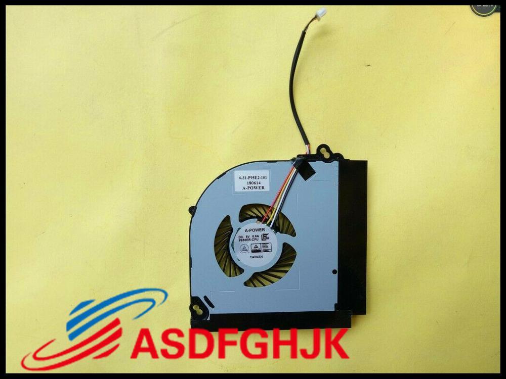مروحة تبريد وحدة المعالجة المركزية لـ Clevo P950 P950ER ، أصلي ، 631-P95E2-101 ، 4 أسلاك ، اختبار موافق