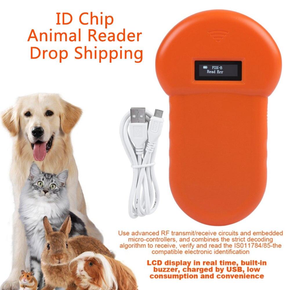 Портативный мини-сканер с микрочипом для домашних животных, Rfid сканер, Электронная идентификационная карта, трекеры, аксессуары для собак