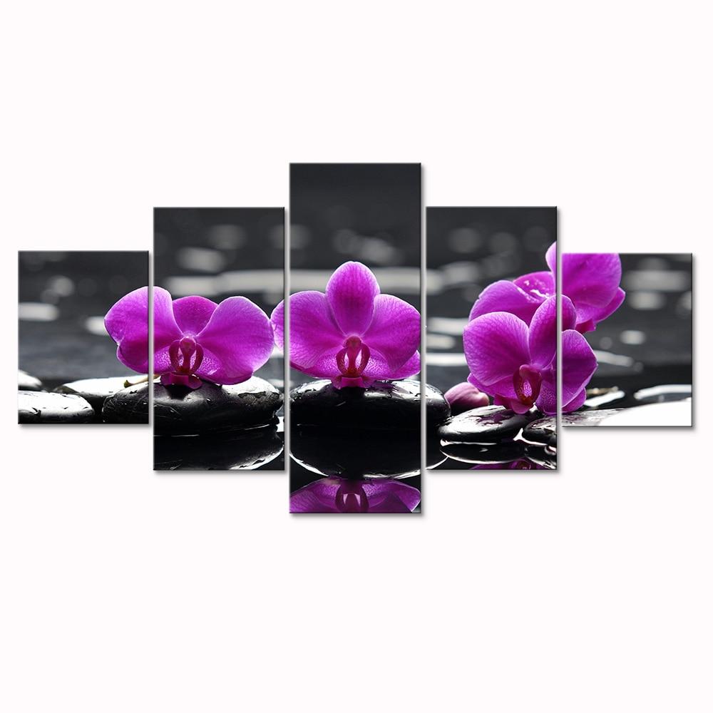 Холст модульная Картина Фиолетовый Цветы Печать картины модульные на стену цветы современный стены искусства фотографии для гостиной Моду...