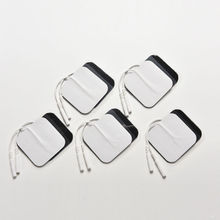 10 Pcs/Set Silicone Gel Electrode Pads Tens Electrodes Digital Therapy Machine Massage 2mm Plug with 5x5cm Nerve Stimulator
