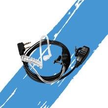 Tubo de ar fone ouvido garganta microfone microfone microfone ptt para portátil rádio walkie talkie baofeng UV-5R uv b5 GT-3TP UV-8HX UV-5RA