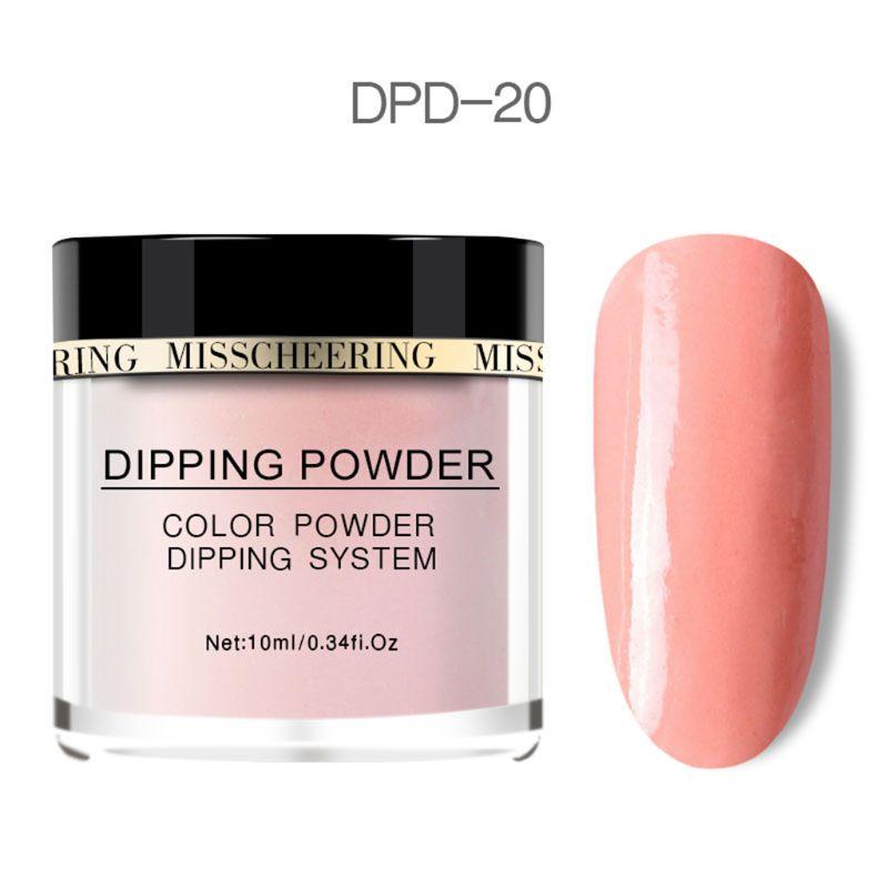 Polvo de 20 colores para infiltracion de uñas, polvos de esmalte de uñas, polvos hidratantes de uñas de acrílico