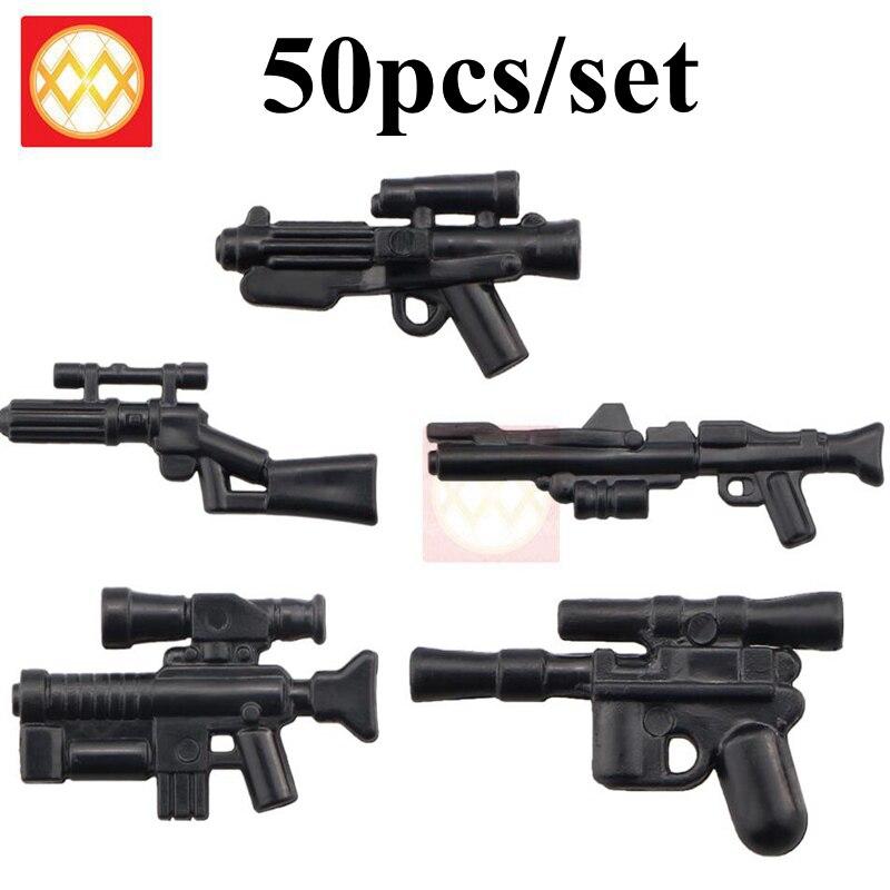 50PCS/SET Weapons Star minied wars starwars stormtroopered clone trooper blaster guns Military Army Series Toys