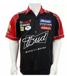 Novo 2019 marca men f1 terno camisa clube de verão equipe budweiser carro macacão fora da estrada camisas jaqueta motocross