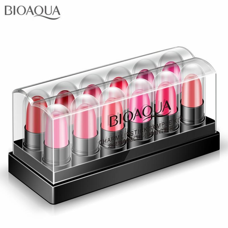 12Pcs/Set Mini Cute Velvet Matte Rouge Lipstick Makeup Long Lasting Kiss-proof Moisturizing Glossy Sexy Color Lips Cosmetic