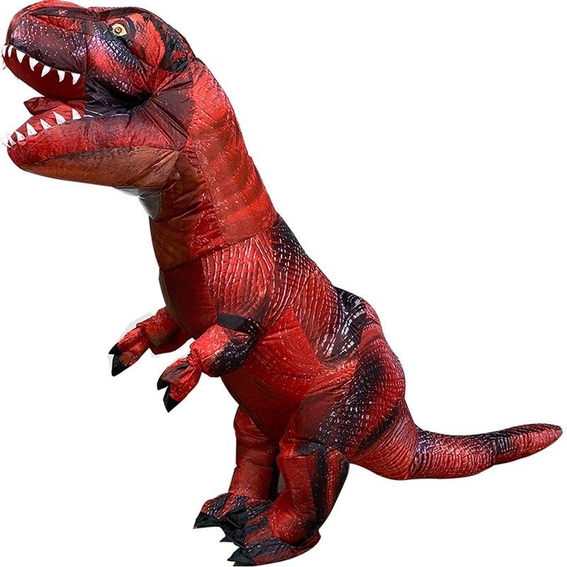 Disfraz inflable H & ZY de dinosaurio Raptor, T-REX a escala antigua, tiranosaurio transparente para adultos, Carnaval, Fiesta Temática, Cosplay