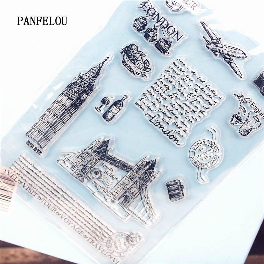 PANFELOU London brücke Klare Stempel DIY Silikon Dichtungen Scrapbooking/Karte, Der/Fotoalbum Dekoration Liefert blätter